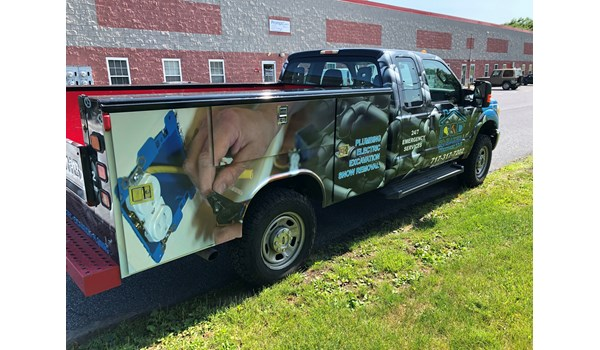 D. Baker Services full vehicle wrap