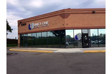 Exterior Lit Channel Letter Sign for Unity One Credit Union in Inver Grove Heights, MN